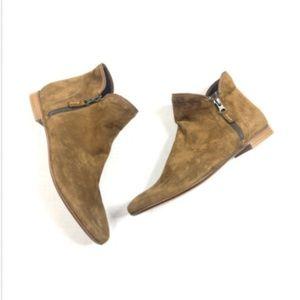 Bernardo 40 10 Frankie Brown Suede Ankle Boots